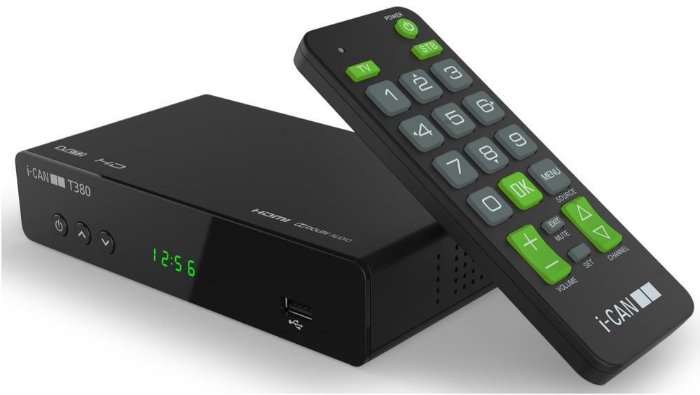 I-CAN I-Can Decoder T380 DVBT2 HEVC  10 BIT HD/USB