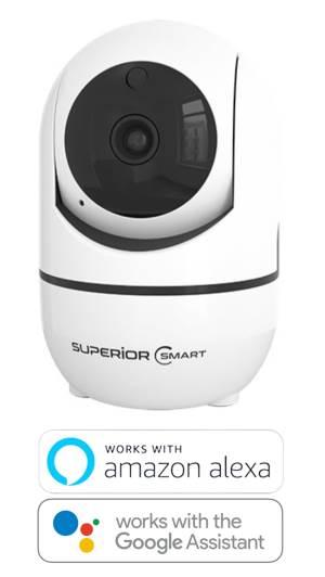Superior Electronics Superior Security Camera Interno 360° HD WiFi Alexa Google SmartLife