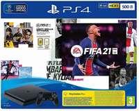 Sony Computer Ent. PS4 Console 500GB Chassis Slim Black + FIFA 21 (Gioco non ITA) EU