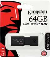 Kingston Kingston Pendrive USB 3.0 64GB DT100G3/64GB