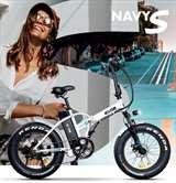 Icon.e Icon.e Bici Elettrica Pieghevole E-Road Plus 250W Navy White S