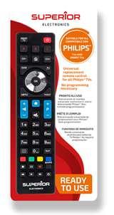 Superior Electronics Superior Telecomando Universale Philips funzioni Smart TV SH