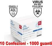 Intco Guanti Vinyl Senza Polvere 10 conf. da 100pz Taglia XL Uso Medico