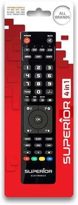 Superior Electronics Superior Telecomando Universale 4 in 1 Slim