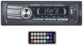 Majestic Majestic Car Audio System Mechless SA 400 BT/USB/AUX Black
