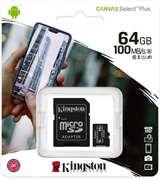 Kingston Kingston Micro SD 64GB Classe 10 SDCS2/64GB + Adattatore SD