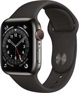 Apple Apple Watch Serie 6 GPS+Cell 40mm Graphite Stainless Steel/Black Sport Band