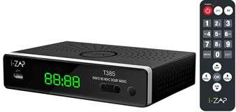 I-ZAP I-Zap Decoder T385 Play DVBT2 HEVC 10 BIT HD/USB Tasti Grandi