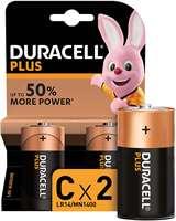 Duracell (1 Confezione) Duracell Plus Batterie 2pz Mezza Torcia LR14 MN1400 C