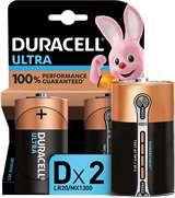 Duracell Duracell Ultra Batterie Torcia LR20 MX1300 D Alcaline 2pz