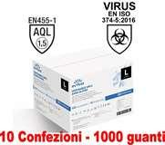 Intco Guanti Vinyl Senza Polvere 10 conf. da 100pz Taglia L Uso Medico