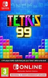 Nintendo Switch Tetris 99 + Nintendo Switch Online 12 mesi