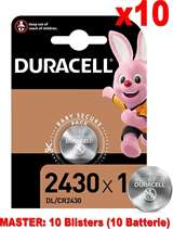 Duracell Duracell Lithium Batterie Bottone DL/CR2430 10pz