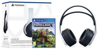 Sony Computer Ent. PS5 Cuffie Wireless PULSE 3D White + PS4 Minecraft