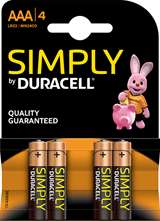 Duracell Duracell Simply Batterie MiniStilo Alcaline AAA 4pz