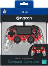 Nacon PS4 Nacon Wired Illuminated Compact Controller Light Edition - Red
