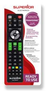 Superior Electronics Superior Telecomando Universale Panasonic funzioni Smart TV SH