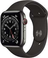 Apple Apple Watch Serie 6 GPS+Cell 44mm Graphite Stainless Steel/Black Sport Band