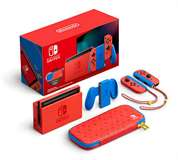 Nintendo Switch Console 1.1 Mario Red/Blue Special Edition + Pochette
