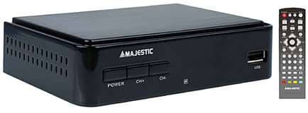 Majestic Majestic Decoder DEC-664 DVB-T/T2 HD/USB/REC Black