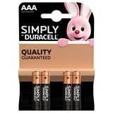Duracell Duracell Simply Batterie Mini Stilo LR03 MN2400 AAA Alcaline 4pz