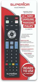 Superior Electronics Superior Telecomando Universale Samsung LG Panasonic Sony Philips R5