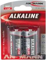 Ansmann Ansmann Batterie Mezza Torcia C/LR14/1.5V Alcaline 2pz