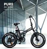 Icon.e Icon.e Bici Elettrica Pieghevole E-Road 250W Pure Black
