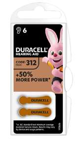 Duracell (1 Confezione) Duracell ActiveAir Batterie 6pz Acustiche Medical DA312