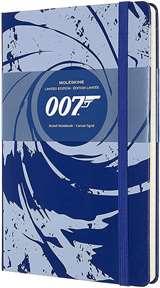 Moleskine Moleskine Taccuino a Righe James Bond Cop. Rigida 13x21cm Blu