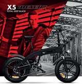 Icon.e Icon.e Bici Elettrica Pieghevole iDesert-X5 250W Deep Black