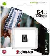 Kingston Kingston Micro SD 64GB Classe 10 SDCS2/64GB SENZA Adattatore