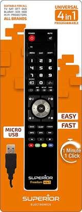 Superior Electronics Superior Telecomando Universale Freedom Micro-USB 4 in 1