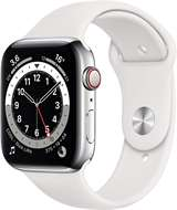 Apple Apple Watch Serie 6 GPS+Cell 44mm Silver Stainless Steel Case/White Sport Band