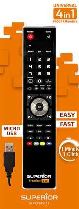 Superior Electronics Superior Telecomando Universale Freedom microUSB 4 in 1