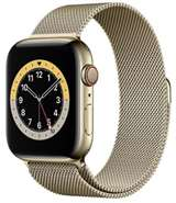 Apple Apple Watch Serie6 GPS+Cell44mm Gold St.Steel Case/Gold Mil.Loop
