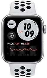 Apple Apple Watch Nike SE GPS+Cell 44mm Silver Alum./P. Plat./Blk Sport B.