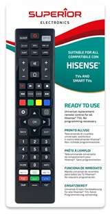 Superior Electronics Superior Telecomando Universale Hisense funzioni Smart TV SM