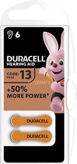 Duracell (1 Confezione) Duracell ActiveAir Batterie 6pz Acustiche Medical DA13