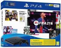 Sony Computer Ent. PS4 Console 500GB Chassis Slim Black + FIFA21 + FUT 21 VCH EU